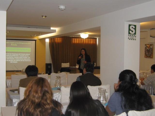 Segunda sesión del curso, a cargo de la Dra. Juana Rosa Terrazos, el domingo 15 de septiembre.