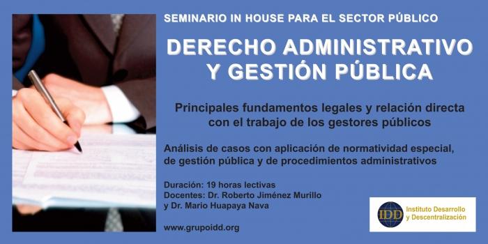 Derecho Administrativo y Gestión Pública