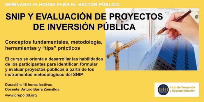 SNIP y evaluación de proyectos de inversión pública
